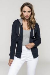 Dámská (dívčí - dorost.) mikina s kontrastní kapucí Contrast Hooded Sweatshirt - Výprodej