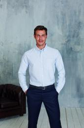Pánská košile dlouhý rukáv oxford - Výprodej
