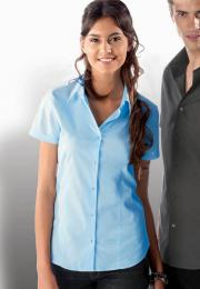 Dámská strečová košile s krátkým rukávem - zvětšit obrázek