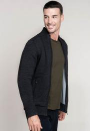Pánský svetr Fleece Lined Cardigan