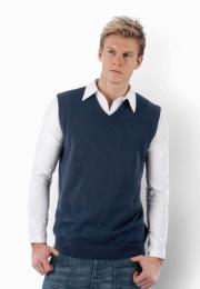 Pánská pletená vesta s výstřihem do V - zvětšit obrázek