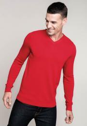 Pánský svetr s výstřihem do V