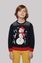 Dětský vánoční svetr unisex se sněhulákem