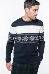Vánoční svetr unisex s vločkami