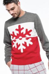 Vánoční svetr unisex s vločkou