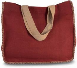 Jutová taška s kontrastním lemem