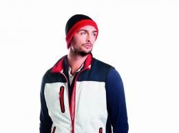 Dvoubarevná pletená čepice - zvětšit obrázek