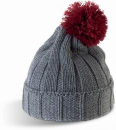 Zimní čepice s bambulí unisex