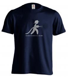 Pánské hasičské tričko s potiskem