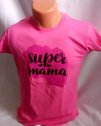 Dámské tričko - potisk super máma