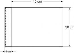 Sáček s lepící klopou 30x40 cm (bal. 100 ks)