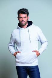 Unisex mikina Ocean Kangaroo hooded contrast
