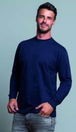 Pánské tričko dlouhý rukáv s náplety